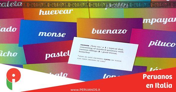 Peruanismos y jerga peruana - Peruanos en Italia